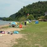 琵琶湖で水が綺麗な水泳場の宮ヶ浜