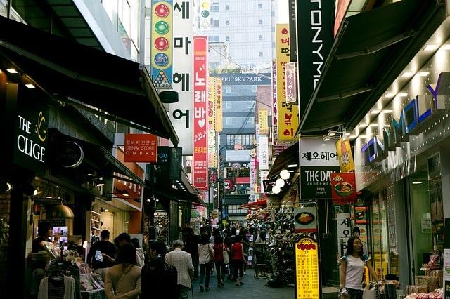韓国南大門の風景