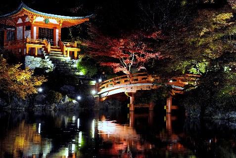 世界遺産醍醐寺のライトアップ