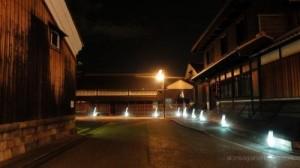 京都観光の穴場伏見酒蔵のライトアップ