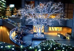 京都ホテルオークラのクリスマスイルミネーション画像
