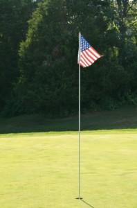 初めてのゴルフ場のグリーン