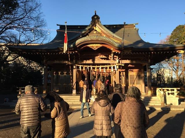 初詣で訪れた京都八坂神社