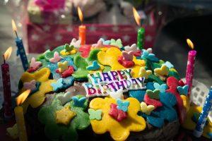 彼氏の誕生日に用意したバースディケーキ
