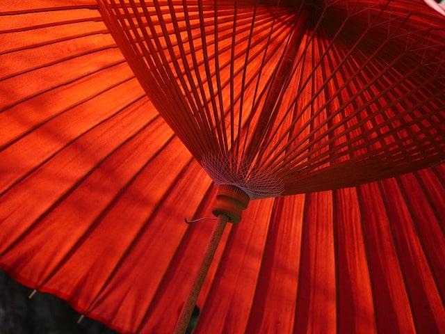 京都の葵祭をイメージした傘