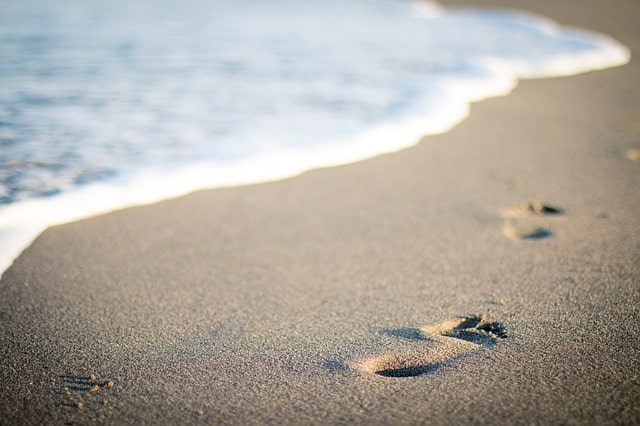 須磨海水浴場の海開きで撮影した綺麗なビーチ