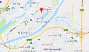 京都花火大会の会場である競馬場の画像