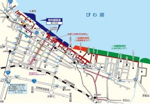 琵琶湖花火大会の詳細図